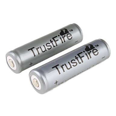 TrustFire AA 14500 900mAh Li-ion Recharbeable Protected Battery (2PCS)