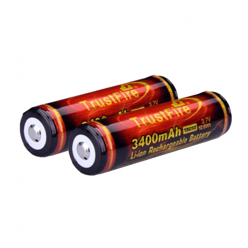 TrustFire 18650 3400mAh Li-ion Recharbeable Protected Battery (2PCS)