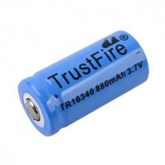 TrustFire 16340 RCR123A 880mAh Li-ion Recharbeable Battery (2PCS)