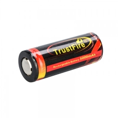TrustFire 26650 5000mAh Li-ion Recharbeable Protected Battery (2PCS)