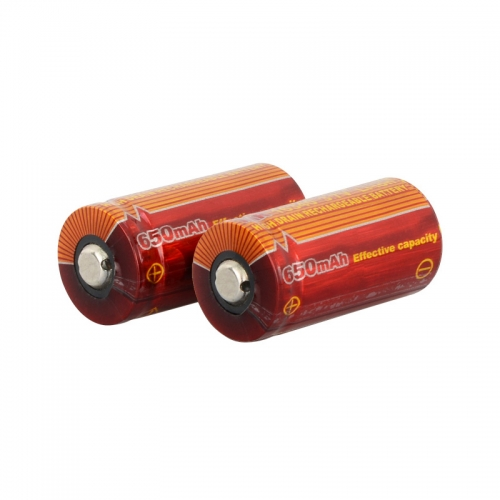TrustFire IMR 16340 650mAh Lithium-ion 3.7V High Drain Recharbeable Battery (2PCS)