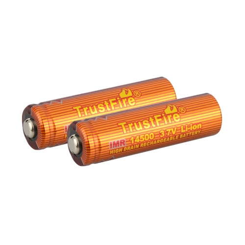 TrustFire IMR 14500 700mAh Lithium-ion 3.7V High Drain Recharbeable Battery (2PCS)