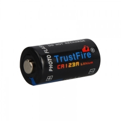 TrustFire CR123A 1400mAh Primary Battery - Black (4PCS)
