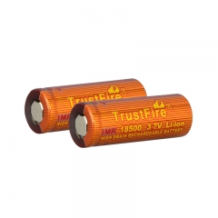 TrustFire IMR 18500 1100mAh Lithium-ion 3.7V High Drain Recharbeable Battery (2PCS)