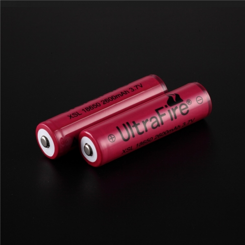 UltraFire 18650 2600mAh Li-ion Recharbeable Protected Battery (2PCS)