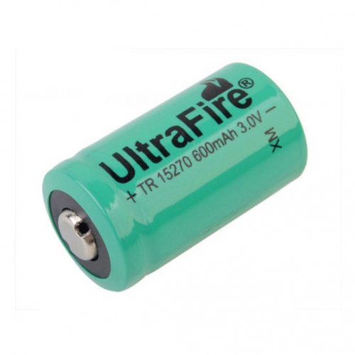 UltraFire 15270 CR2A 600mAh 3.0V Li-ion Recharbeable Battery (2PCS)