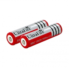 UltraFire 18650 3000mAh Li-ion Recharbeable Protected Battery (2PCS)