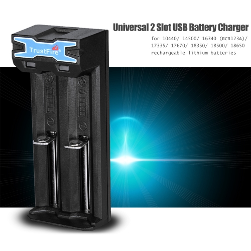 TrustFire TR-016 Battery Charging System for 2pcs 10440/14500/16340(RCR123A)/17335/17670/18350/18500/18650 Lithium Batteries