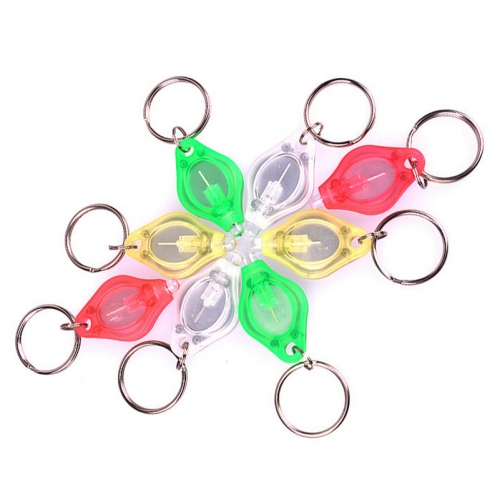 Ultra Bright Plastic Protable Keychain LED Light Colorful LED