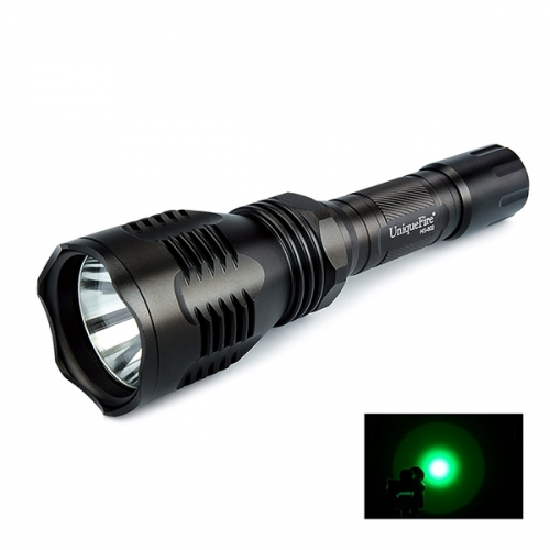 UniqueFire HS-802 350 Lumens 250 Yard Tactical Flashlight Green Hunting Light Coyote Hog Hunting Flashlight