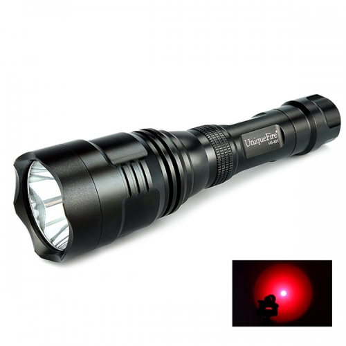 UniqueFire HS-801 350 Lumens 250 Yard Tactical Flashlight Red Hunting Light Coyote Hog Hunting Flashlight