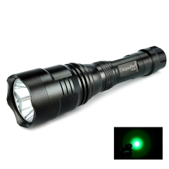 UniqueFire HS-801 350 Lumens 250 Yard Tactical Flashlight Green Hunting Light Coyote Hog Hunting Flashlight