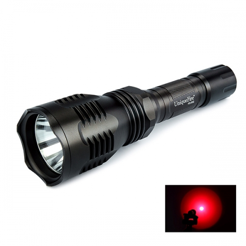 UniqueFire HS-802 350 Lumens 250 Yard Tactical Flashlight Red Hunting Light Coyote Hog Hunting Flashlight