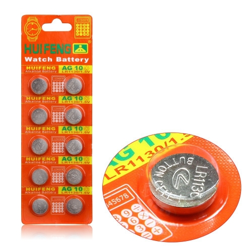 50 pcs of AG10 LR1130 389 LR54 SR54 SR1130W 189 L1130 Button Cell Coin Battery