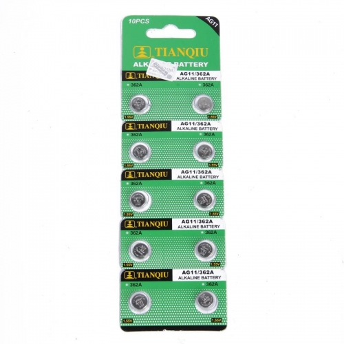 50 pcs of AG11/362A LR58 362/361 L721 AG11 1.55V Alkaline Button Cell Coin Battery