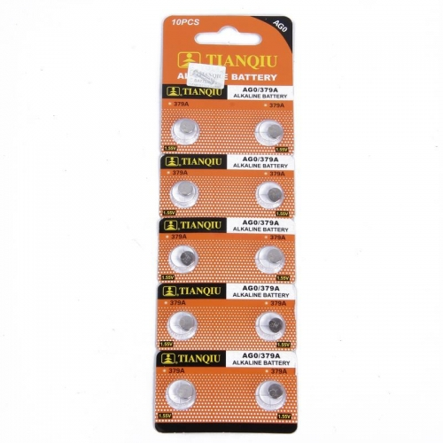 50 pcs of AG0 SR63 521A LR521 SR521 1.55V Button Cell Alkaline Battery ECOS