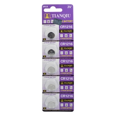 50 pcs of 3V CR1216 DL1216 BR1216 LM1216 5034LC 1216 Cell Button Battery