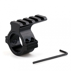Aluminum Alloy Caliber 30mm&25mm Ring 21mm Weaver Rail Mount with Plastic Sleeve for Torch Flashlight Laser Scope