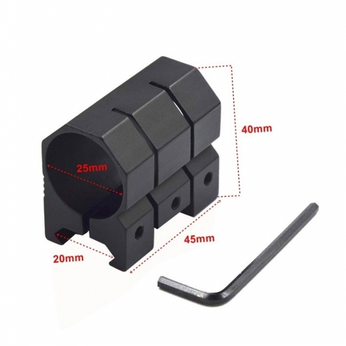 25mm 1'' Ring Gun Accessories 21mm Weaver Scope Torch Rail Mount Tactical Hunting Mounts