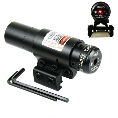 Tactical 5mW Red Laser Rifle Scope with Gun Mounts (3 X AG13)