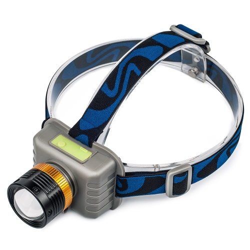UniqueFire CREE XPE Q3 MicroUSB Rechargeable Zoom Headlight Headlamp