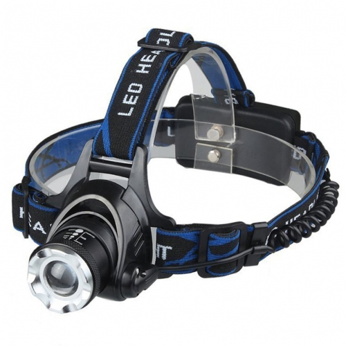 Romisem CREE XM-L2 T6 600lm LED Zooming Headlight Headlamp Biking Fishing Light - Blue