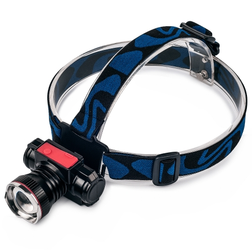 UniqueFire CREE XPE Q3 Rechargeable LED Zoom Headlight Headlamp