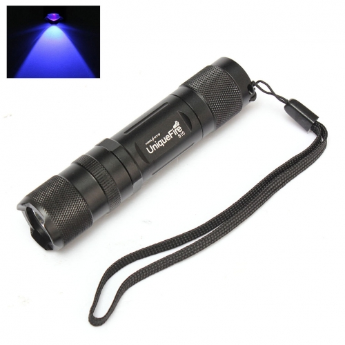 UniqueFire EDC 395-410nm UV LED 1xAA Flashlight Torch