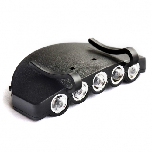 Hat Lamp Outdoor Fishing 5-LED Cool White Clip-on Head Lights
