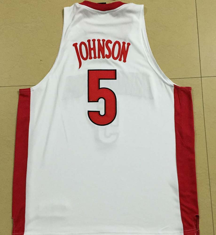 eabbed2d9e33 Authentic NCAA NIKE  5 JSTANLEY JOHNSON ARIZONA UNLV College ...