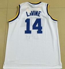47a1b2892 Authentic NCAA Adidas #14 Zach LaVine UCLA Bruins College Basketball jerseys  BLUE White Uniforms stitching sportswear vest Mens Jersey ...