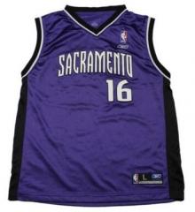 958c5834a Authentic Reebok Retro  16 Peja Stojakovic Sacramento Basketball  Jerseys