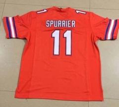 Custom Men s NCAA Nike University FLORIDA GATORS  11 STEVE SPURRIER College football  Jersey orange Stitching Jerseys free shipping ... 41fc47144