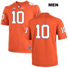 4b33fff4b89 NCAA #10 Tuck Israel football Jersey Clemson Tigers College Jerseys Nike  Men's Orange Stitching free shipping ...