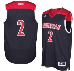 a1dd8a99666a cheap New Adidas NCAA March Madness  2 Louisville Cardinals College  Basketball Jerseys black Red Men s Stitched Jersey ...