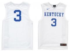 1dee265d5db2 cheap New Nike NCAA KENTUCKY WILDCATS  3 WHITE College Basketball Jerseys  TANK TOP Men s Stitched Jersey ...