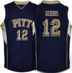 6d92e0e21502 Cheap custom  12 Ashton Gibbs Pittsburgh Panthers Throwback NCAA college  basketball jerseys Navy blue TANK TOP Men s Stitched Jersey ...