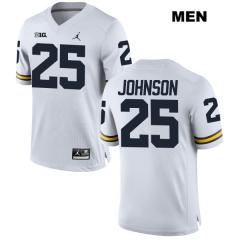 Mens  25 Nate Johnson Jersey NCAA Michigan Wolverines Jordan College White  Football Jerseys ... dcc4cd0a0