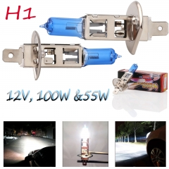 Car Auto Xenon H1 HID Super White 12V 55W 100W Headlight Halogen Bulb Lamps
