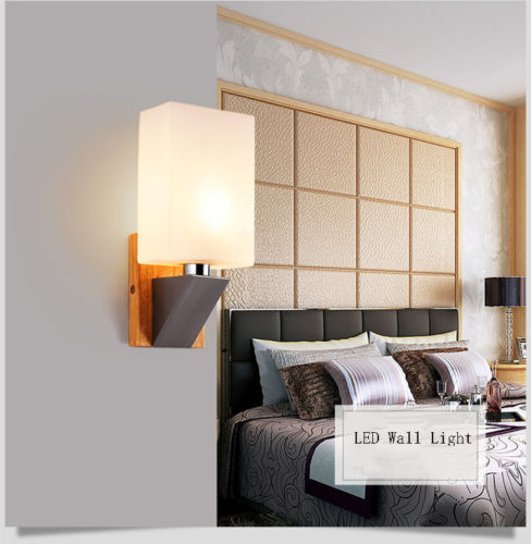 Modern LED Wall Light E14 Base Indoor Cube Sconce Lighting Decorate Lamp Fixture