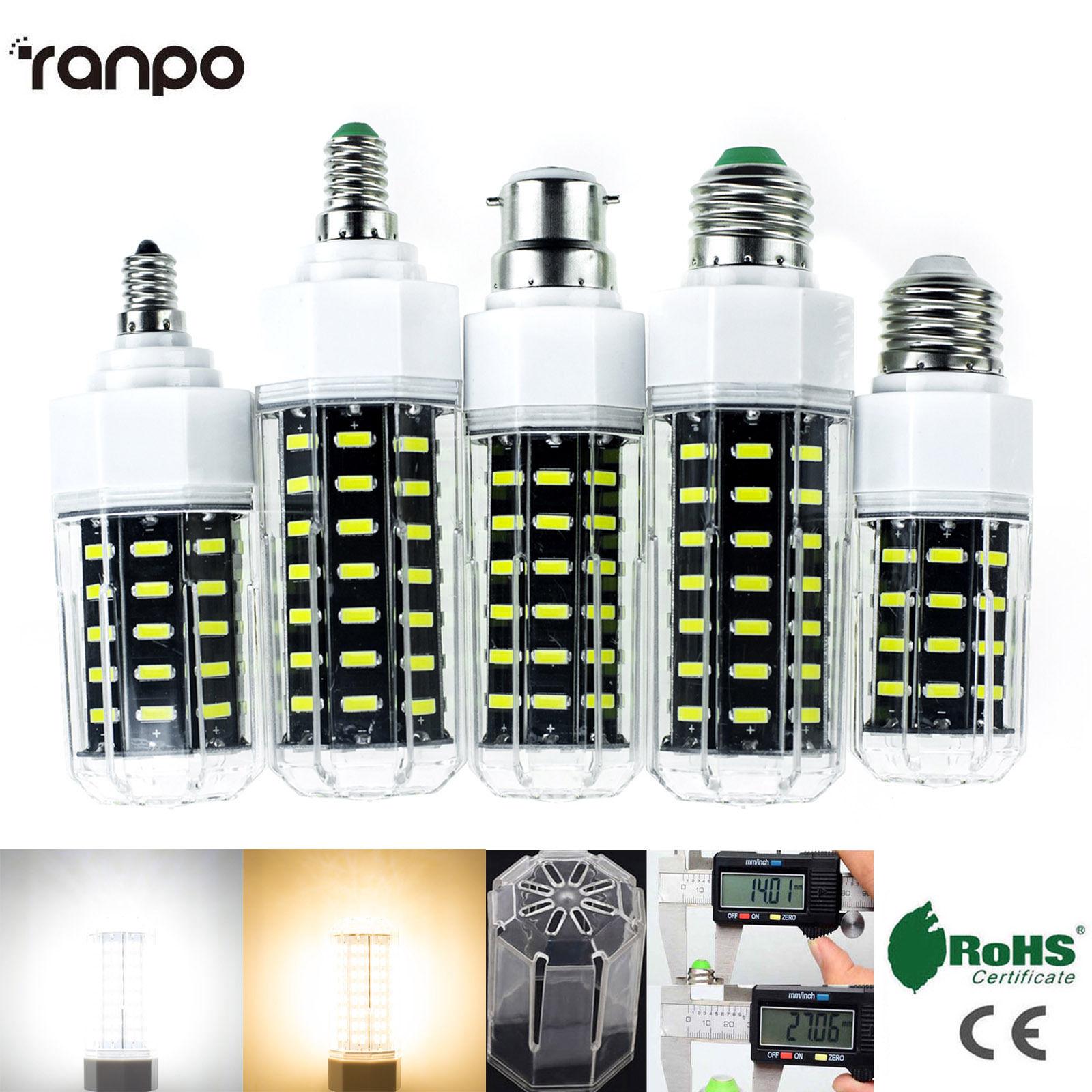 E27 E26 E12 E14 Dimmable LED Corn Bulb 7030 SMD Light 22W 27W 30W 36W White Lamp