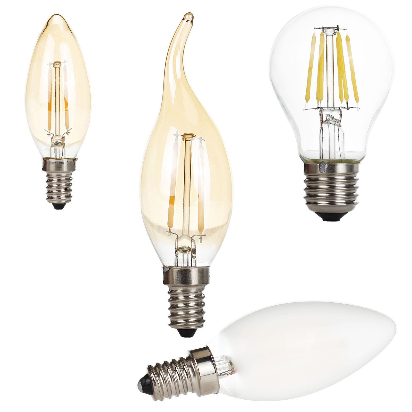 E27 E14 2w 4w 6w Vintage Retro Light Bulb Filament