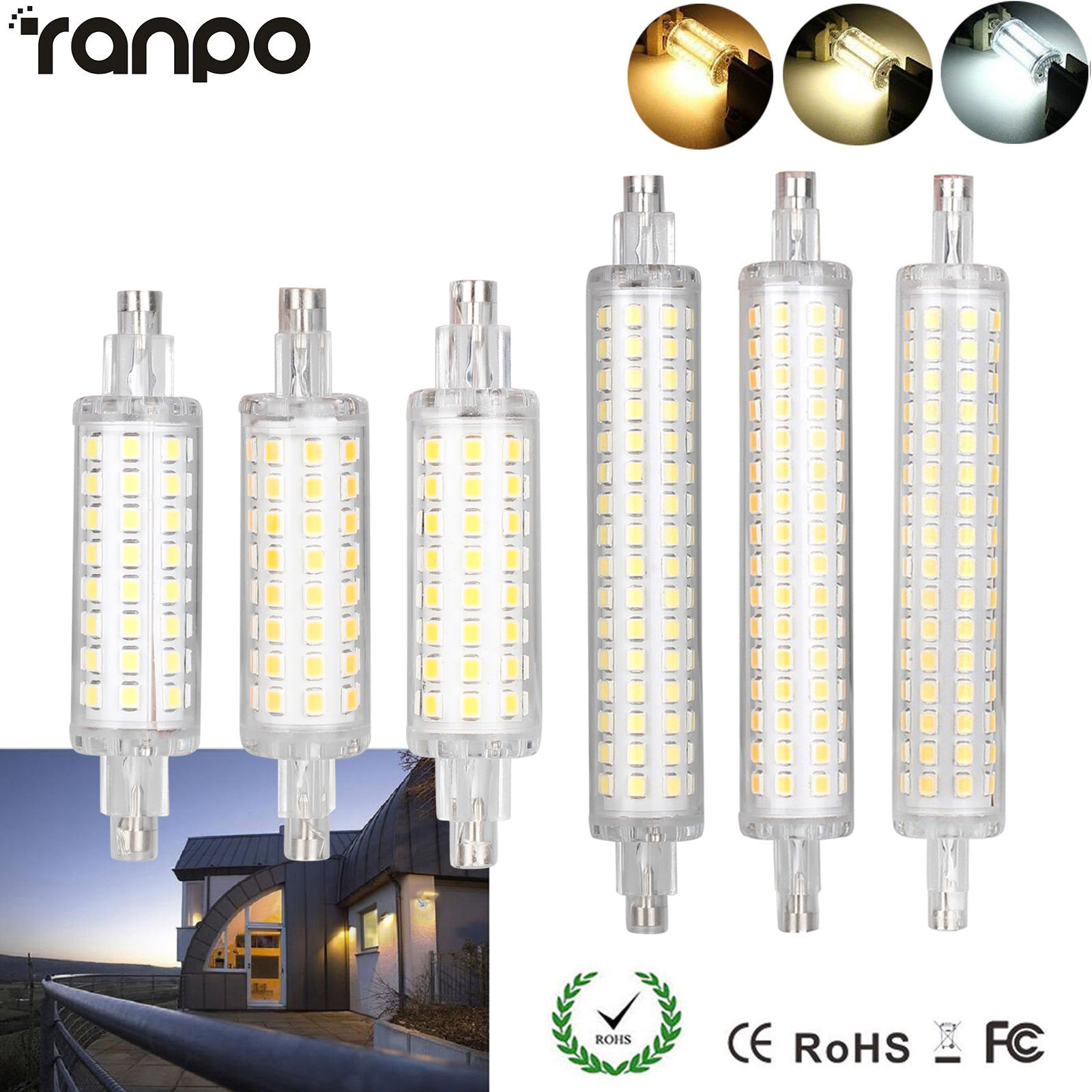 R7S 78mm 118mm 12W 16W 2835 SMD LED Flood Light Bulb Replacement Halogen Lamp EP