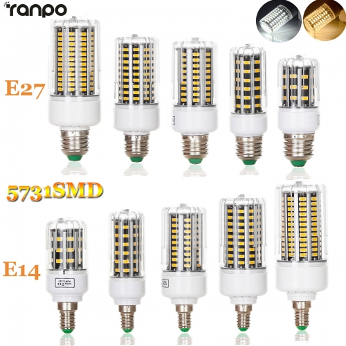 LED Corn Bulb Lamp E27 E14 10W 18W 25W 30W 36W 5731 SMD Bright Light AC 220V
