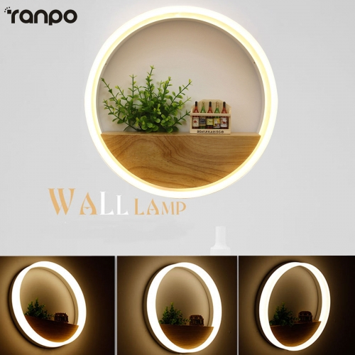 Led Wall Lamp LED Sconce Light Acrylic Modern Home Decoration warm Lamps 85-265V