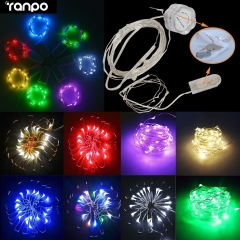 1M 2M LED String Silver Wire Fairy Light Battery Power Christmas Xmas Lamp Bulb