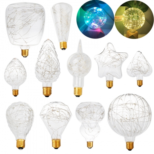 E27 3W LED Edison Fairy String Light Bulb Home Xmas Party Decor Lamp AC 85-265V
