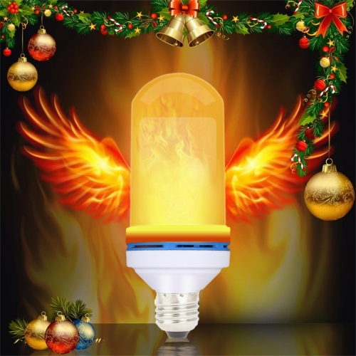LED Flickering Flame Effect Fire Light Burning Bulb E27 E26 B22 Decor XMAS Lamp