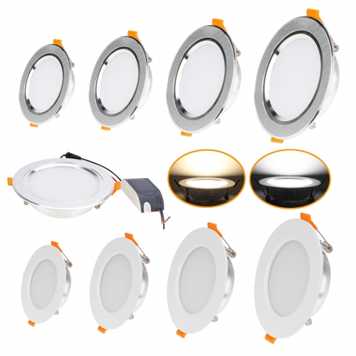 RANPO LED Recessed Ceiling Downlights Spotlights COB Bulbs 3W 5W 7W 12W 85-265V lamps