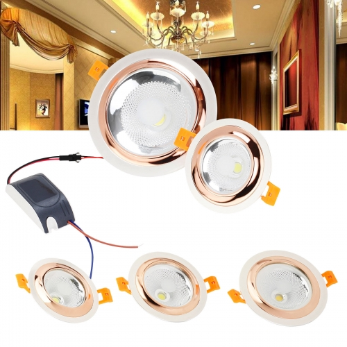 RANPO Recessed LED Ceiling Light Fixture Downlight 3W 5W 10W 12W Lamps 110W Equivalent